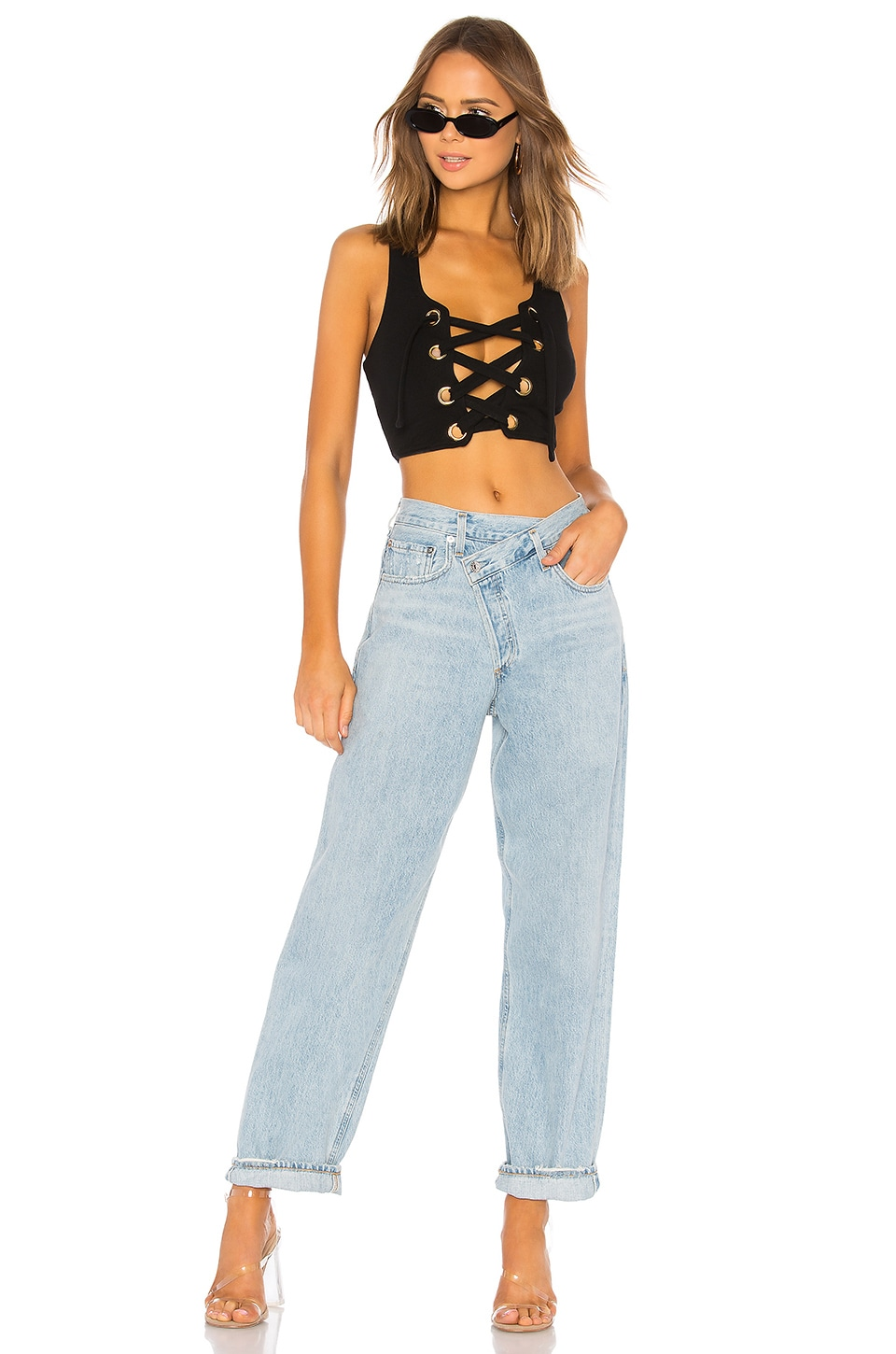 Criss Cross Upsized Jean, view 5, click to view large image.