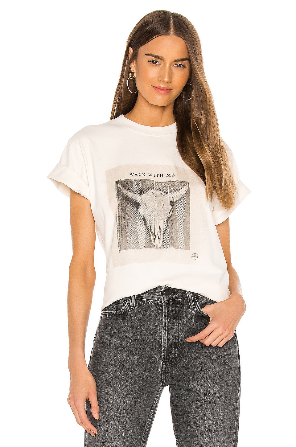 Lili Walk With Me Tee             ANINE BING                                                                                                       CA$ 131.64 7