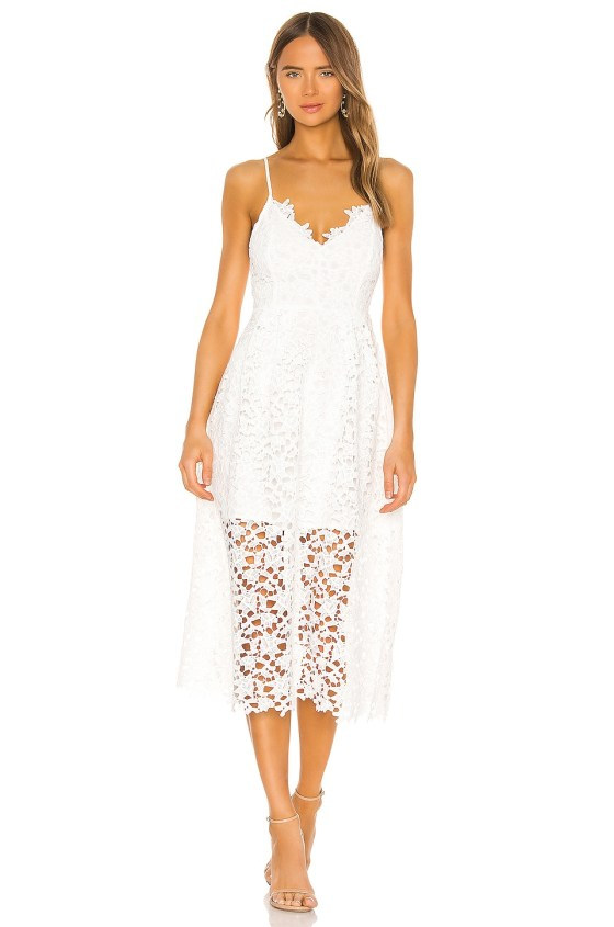 Lace A Line Midi Dress                     ASTR the Label 7