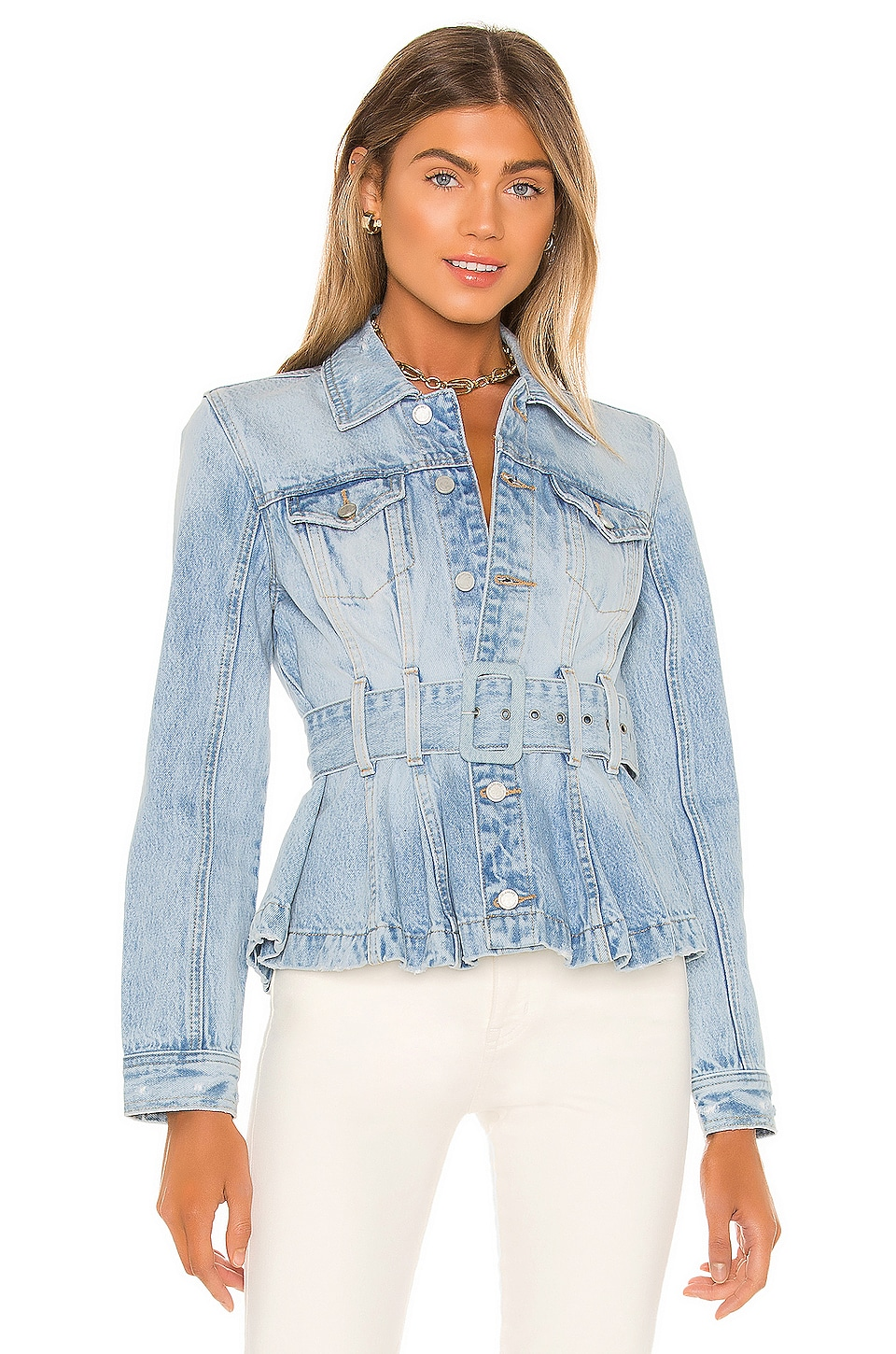Self-Belt Pleated Denim Trucker Jacket             BLANKNYC                                                                                                       CA$ 181.99 4