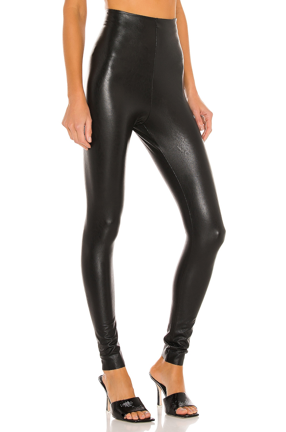 Perfect Control Faux Leather Legging, view 2, click to view large image.