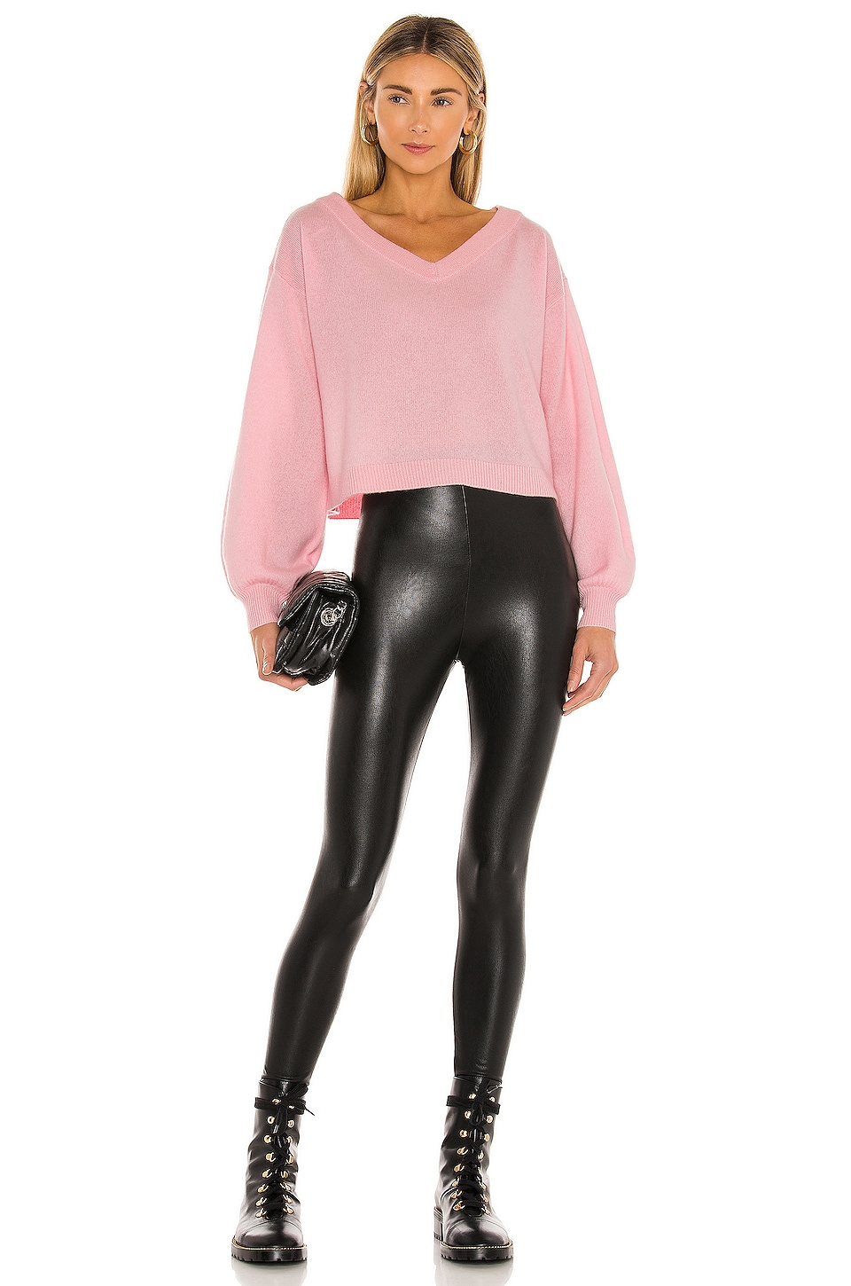 Perfect Control Faux Leather Legging, view 4, click to view large image.