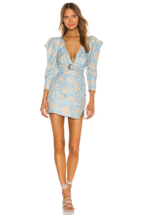 Reese Power Shoulder Mini dress                     For Love & Lemons 5