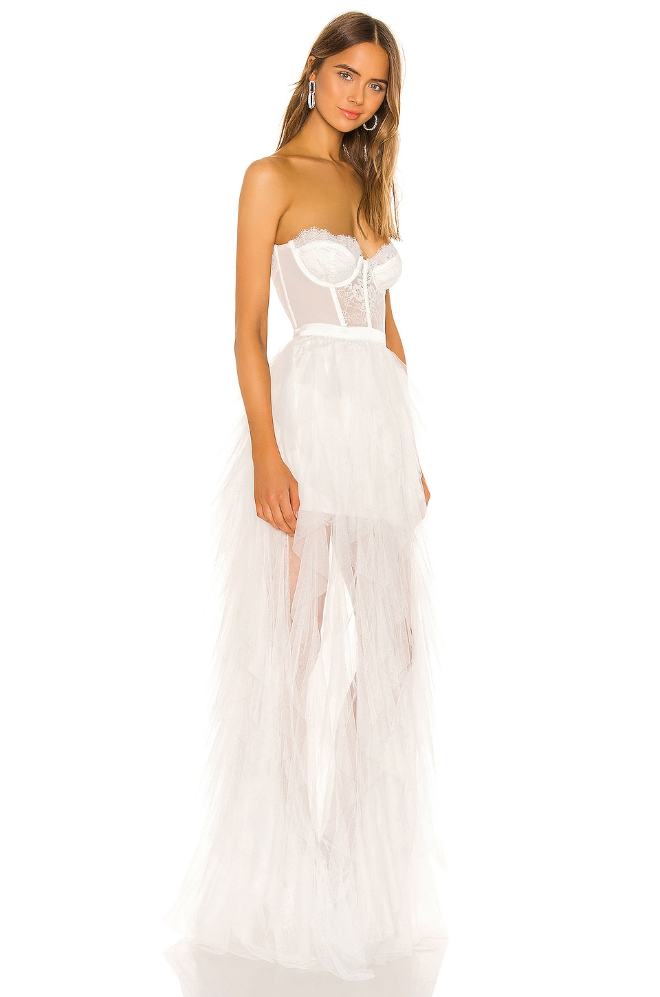X REVOLVE Bustier Gown, view 2, click to view large image.