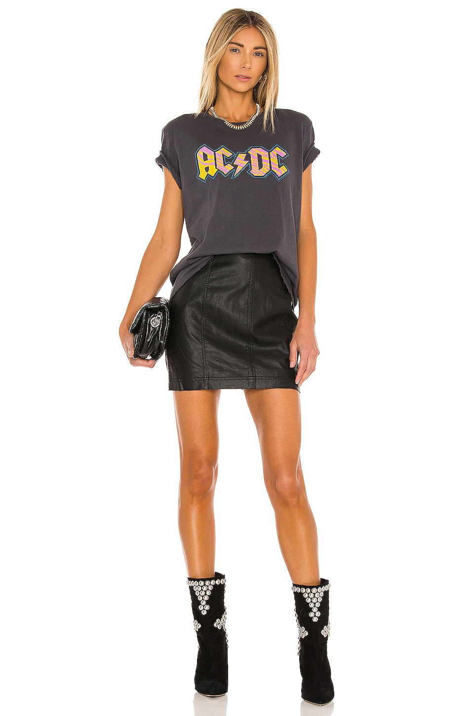 Modern Femme Vegan Mini Skirt, view 4, click to view large image.