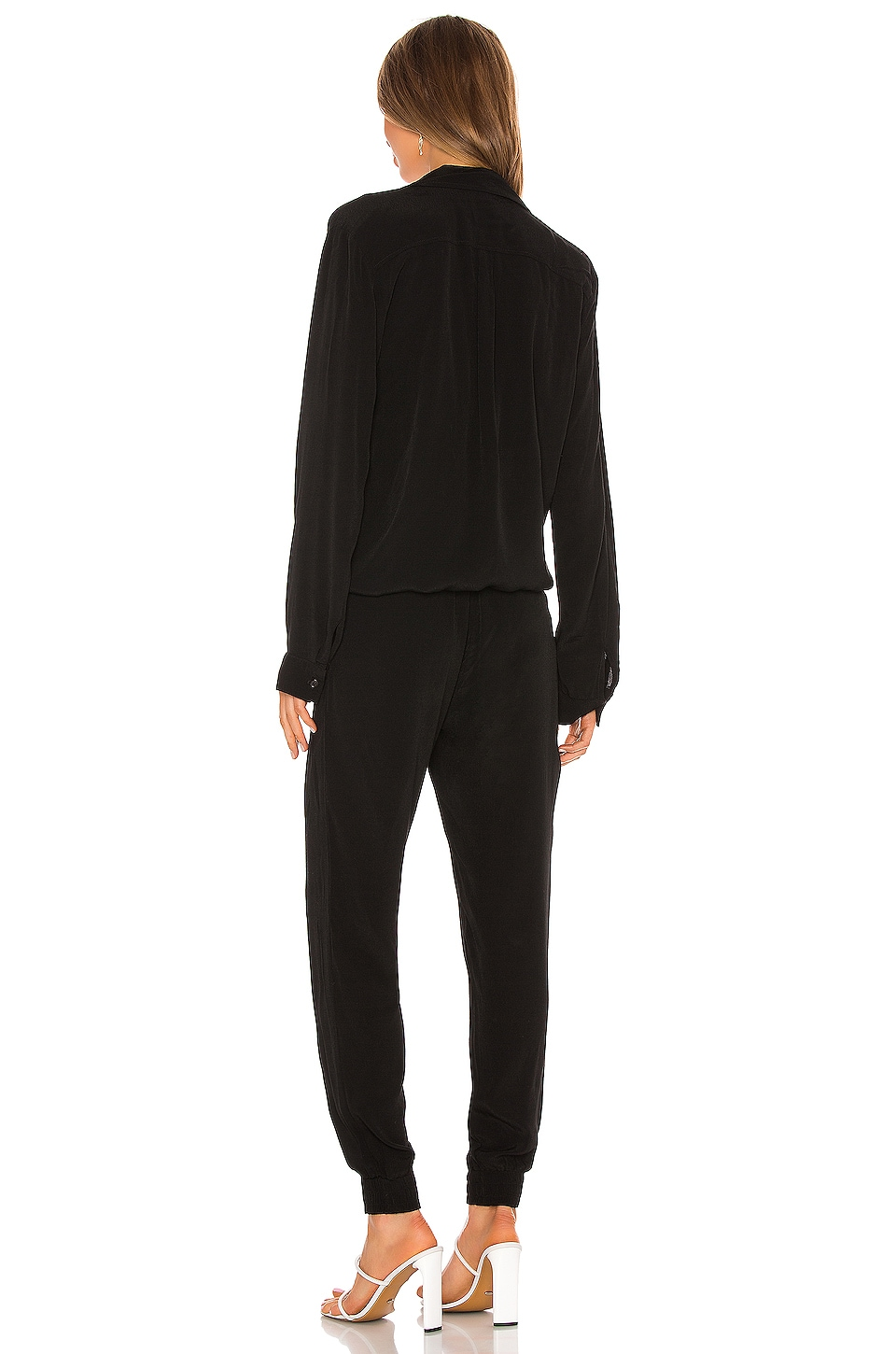 Crepe Long Sleeve Jumpsuit, view 3, click to view large image.