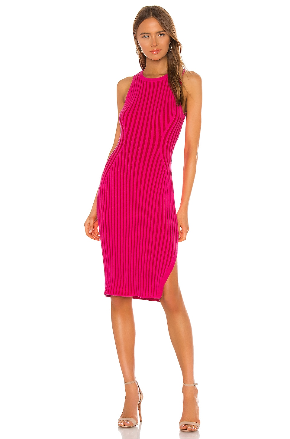 Rid Knee Length Dress                     MILLY 4