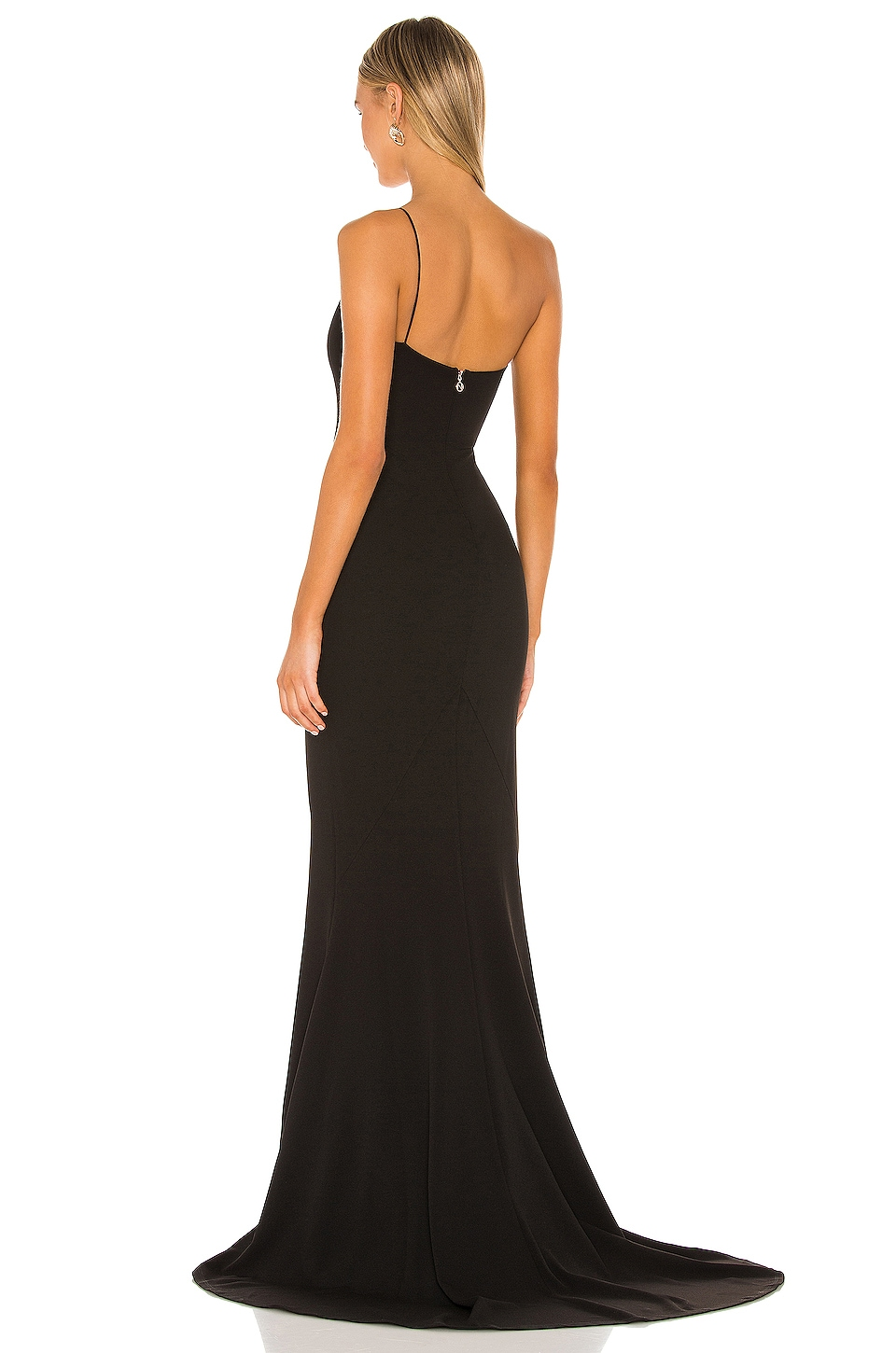 Jasmine One Shoulder Gown, view 3, click to view large image.