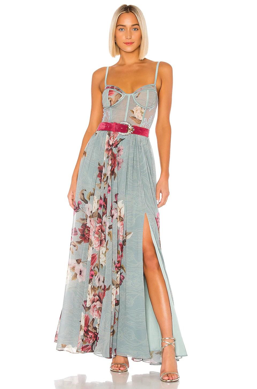 Peony Bustier Maxi Dress                     PatBO 7