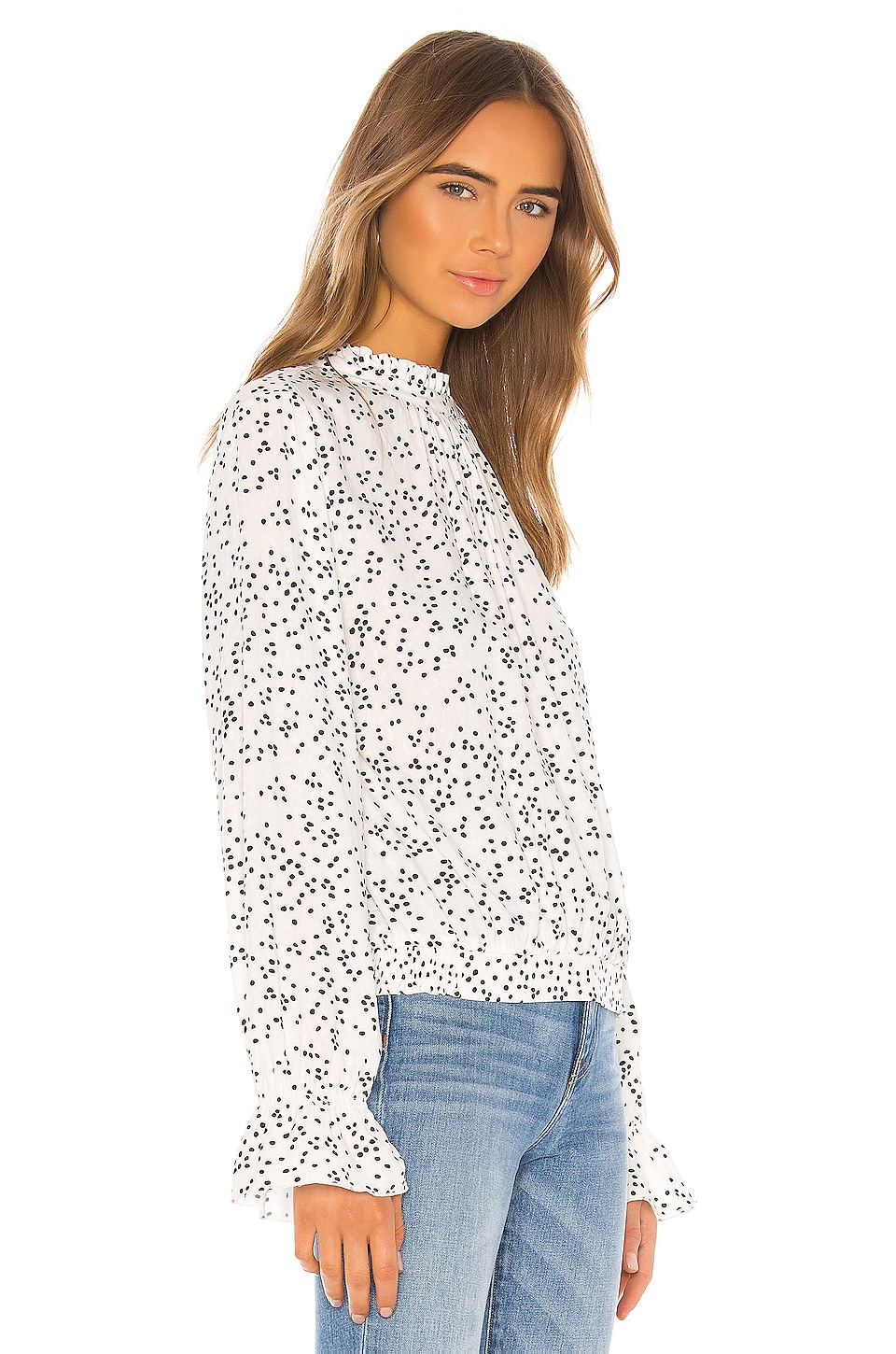 Solstice Mock Neck Blouse, view 2, click to view large image.