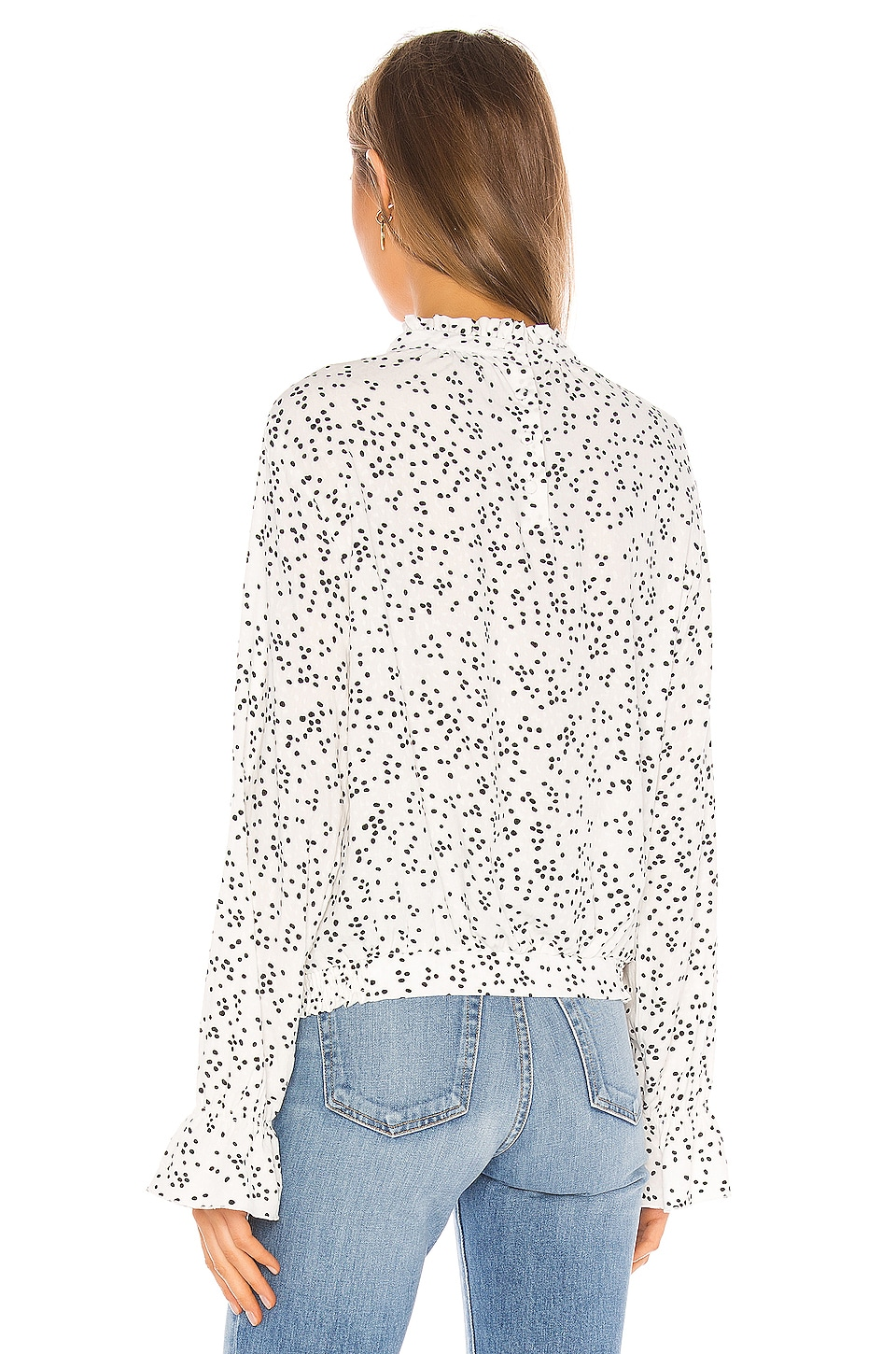 Solstice Mock Neck Blouse, view 3, click to view large image.
