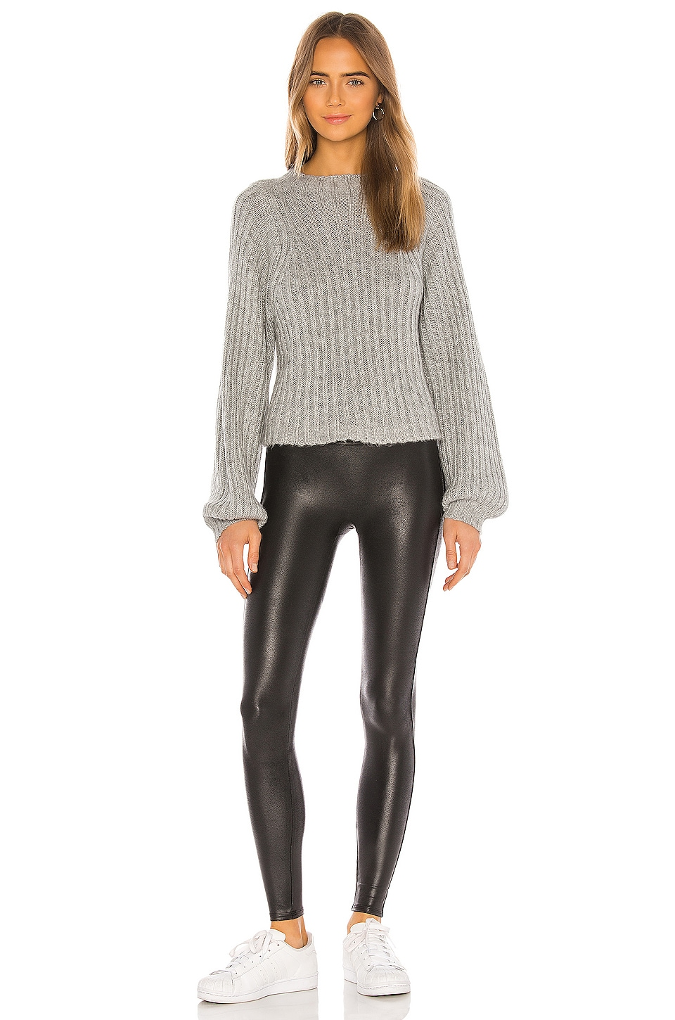 Petite Faux Leather Legging, view 4, click to view large image.