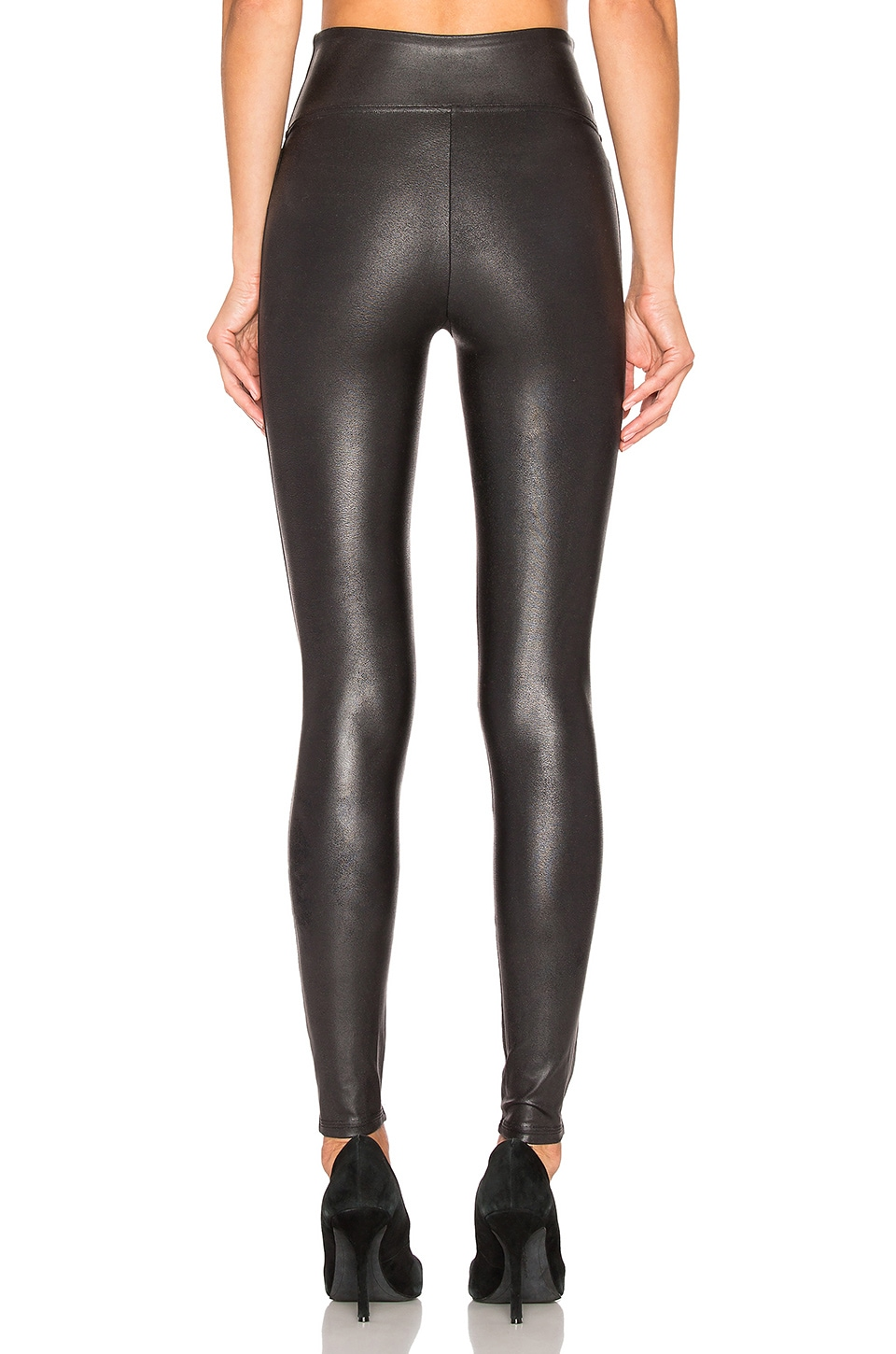 Faux Leather Leggings, view 3, click to view large image.