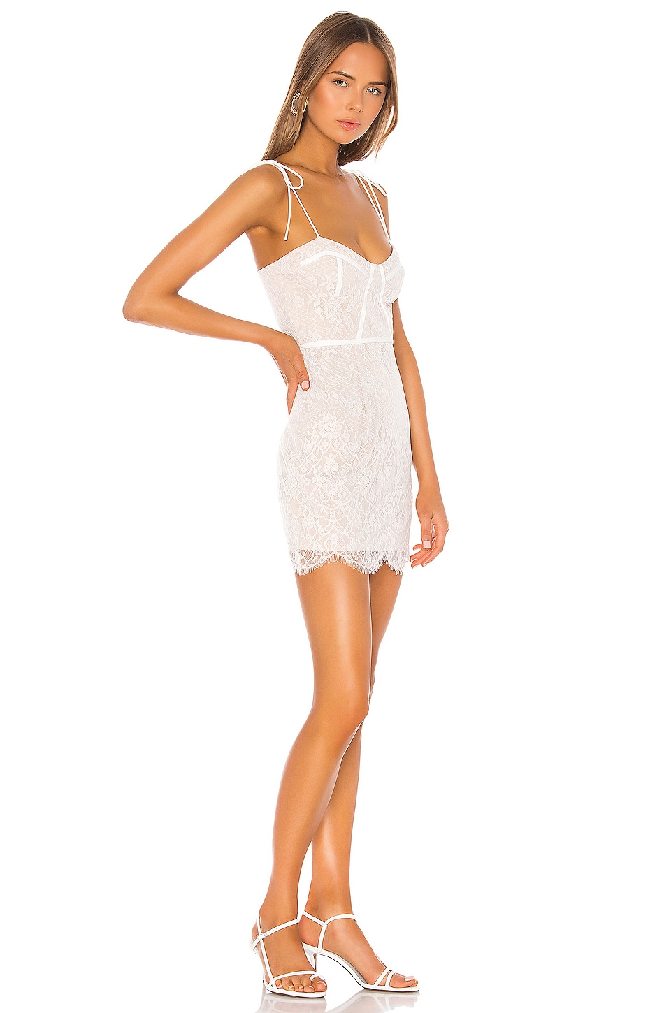 Lottie Lace Bustier Dress, view 2, click to view large image.