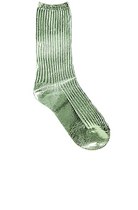 Acne Studios Tabi Socks in Green,Metallic