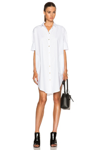 Acne Studios Lash Long Shirt Dress in White