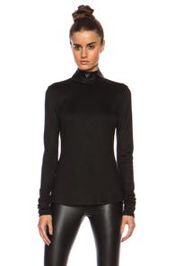 BLK DNM Wool-Blend Shirt 72 in Black