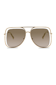Chloe Poppy Sunglasses in Metallic Gold