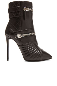 Giuseppe Zanotti Olinda Zipper Leather Booties in Black