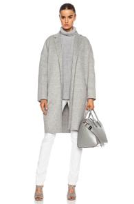 ROCHAS Wool Coat in Gray