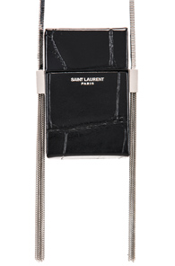 Saint Laurent Smoking Box Minaudiere in Black