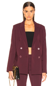 Tibi Steward Blazer in Purple