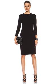 Vince Viscose-Blend Boucle Dress in Black