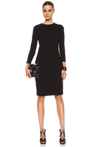Vince Viscose-Blend Boucle Dress in Black