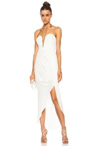 Zimmermann Silk Curve Long Silk Dress in White