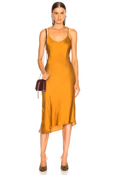 AG Adriano Goldschmied Scarlet Dress in Yellow. - size L (also in M)