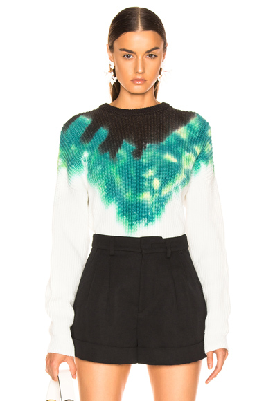 A.L.C. Elinor Pullover Tie Dye in Black,Green,Tie Dye,White. - size M (also in L,S,XS)