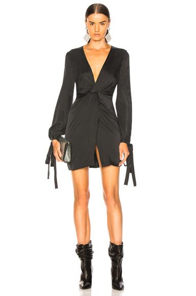 Amiri V Neck Short Dress in Black,Gray. - size 6 (also in 2,4,8)