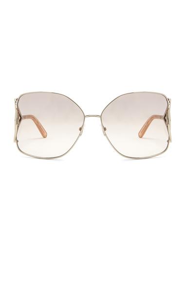 Chloe Jackson Sunglasses in Metallic Gold.