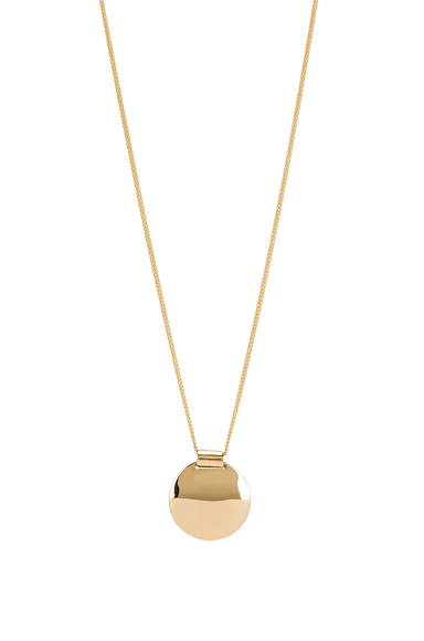 Fay Andrada Pallo Necklace in Metallic Gold.