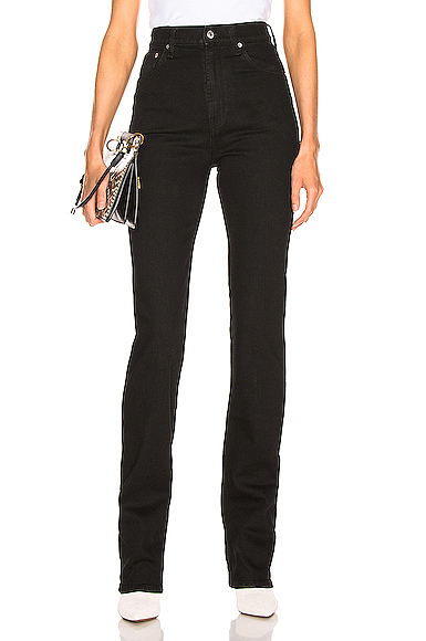 Helmut Lang Femme Hi Bootcut in Black. - size 30 (also in 25)