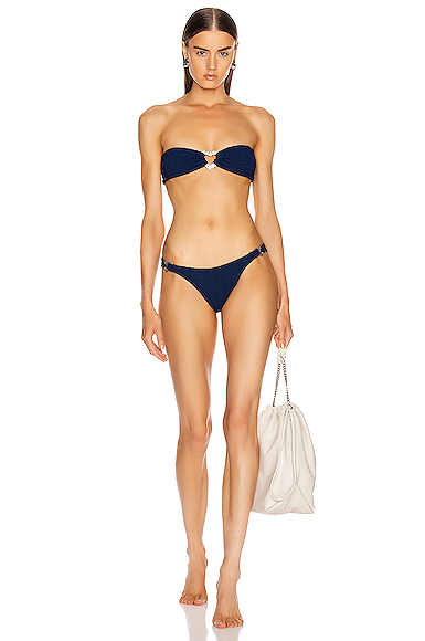 Hunza G Leya Bikini in Blue.