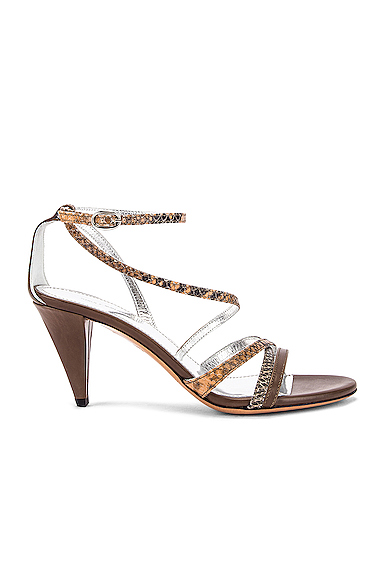 Isabel Marant Afka Sandal in Animal Print,Gray. - size 36 (also in 37,38,40)