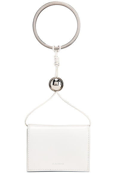 Jil Sander Bracelet Wallet Bag in White.