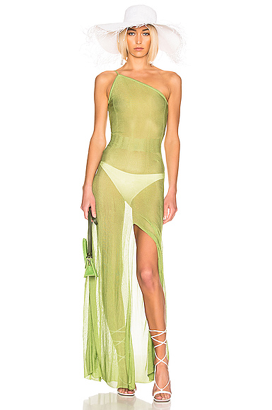 JACQUEMUS Calghera Dress in Green. - size 42 (also in )