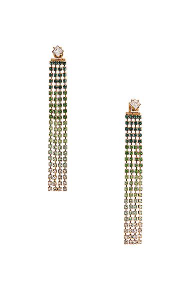 JACQUEMUS Monaco Earrings in Green.