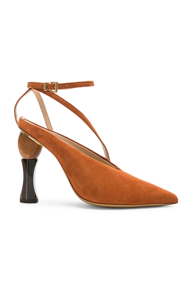 JACQUEMUS Suede Faya Heels in Brown. - size 36 (also in 37,37.5,38,39,39.5,40,41)