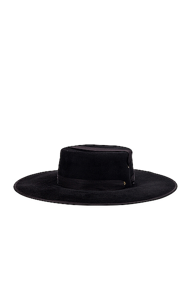 Lola Hats Zorro Felt Hat in Black.