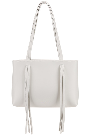 Mansur Gavriel Mini Fringe Bag in White.