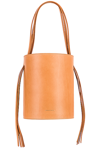 Mansur Gavriel Fringe Bucket in Neutral.