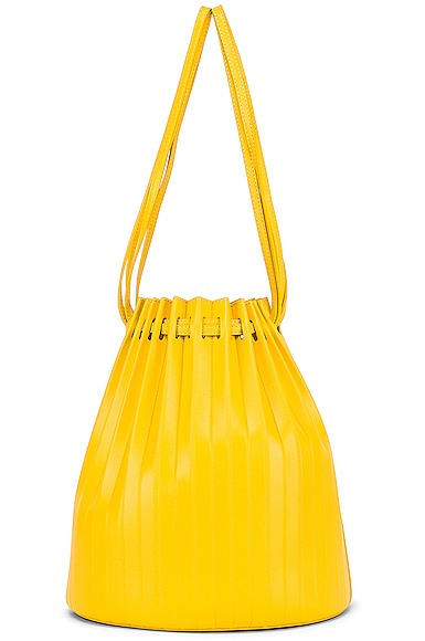 Mansur Gavriel Pleated Bucket in Yellow.