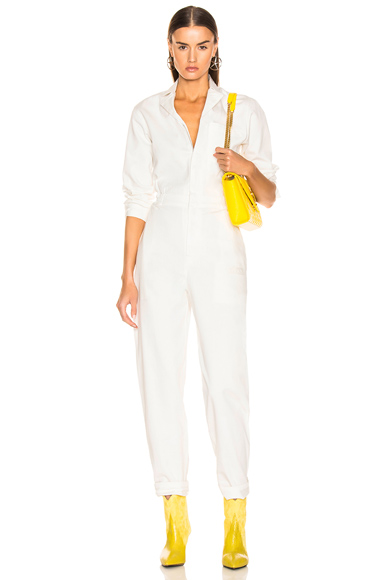 Miaou Romy Jumpsuit in White. - size M (also in L,S,XS)