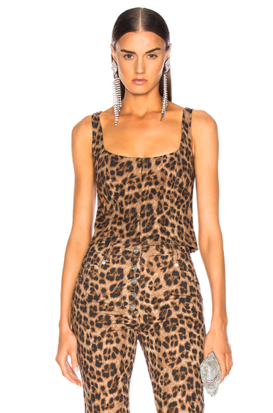 Miaou Roxanne Top in Animal Print,Neutral. - size XS (also in )