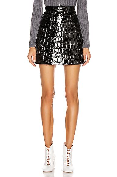 Miu Miu Mini Skirt in Black. - size 40 (also in 38,42,44)
