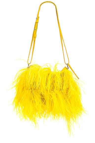Marques ' Almeida Feather Bag in Yellow.