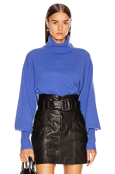 Marissa Webb Sloane Turtleneck Sweater in Blue. - size S (also in L,M,XS)